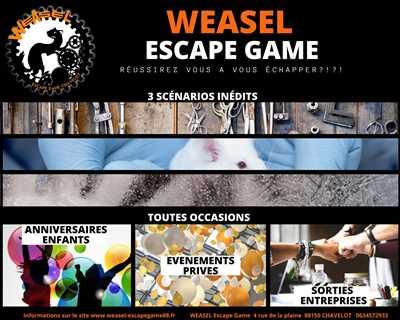 Photo espace game n°20 zone Vosges par Weasel Escape Game